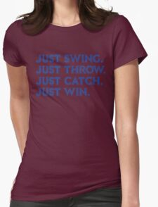 Just Win. (Blue) Womens Fitted T-Shirt