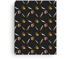 The Claw, The Box, The Knife, The Blade, and the Saw Canvas Print