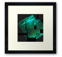 Tutorial in Turquoise.. Framed Print