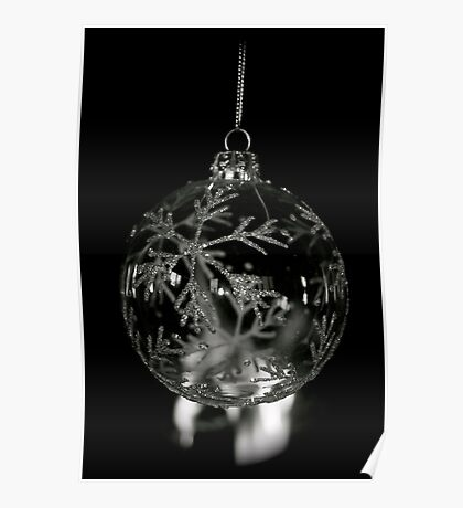 Snowflake Bauble Poster