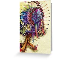 Elephantomas Passiflora Greeting Card