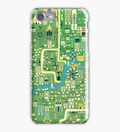 cartoon map of London iPhone 3,4- iPod case iPhone Case/Skin