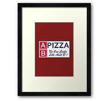 AB Pizza (Bad Blood) Framed Print