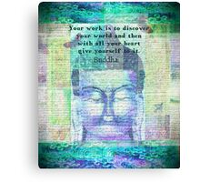 Buddha Discover Quote Canvas Print