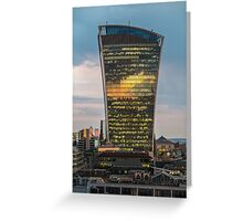 Walkie Talkie Sunset, London Greeting Card