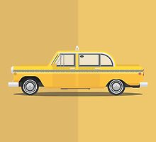 Taxi Driver - Vehicle Inspired Print by George Townley