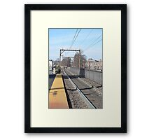 Curving Tracks Framed Print