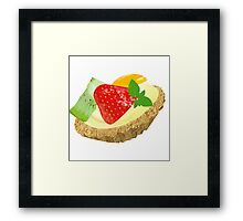Fruit tart Framed Print