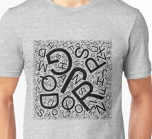 Random Letters - Created with Processing Unisex T-Shirt