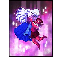 Ruby and Sapphire - Gem Glow Photographic Print