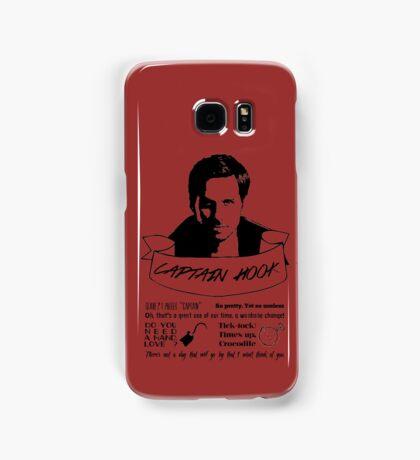 Captain Hook + Quotes Samsung Galaxy Case/Skin
