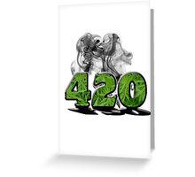 420 HAZE Greeting Card