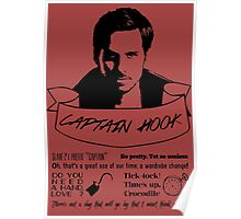 Captain Hook + Quotes Poster