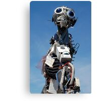 Waste Electrical and Electronic Recycled Cool Robot Man Canvas Print