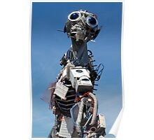Waste Electrical and Electronic Recycled Cool Robot Man Poster