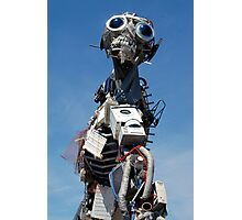Waste Electrical and Electronic Recycled Cool Robot Man Photographic Print