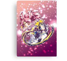 Super Sailor Moon & Chibi Moon (edit 1/B) Canvas Print