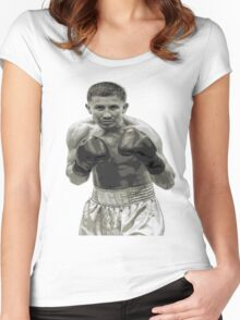 GGG Gennady Golovkin Black and white Boxing Women's Fitted Scoop T-Shirt