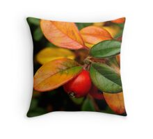 Christmas red, gold and green Throw Pillow