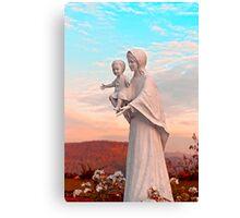 Saint Mary with Jesus Canvas Print