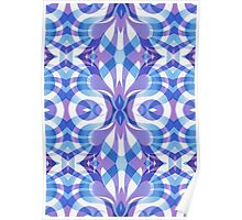 Floral Geometric Abstract Poster