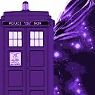 Tardis In Flight by iheartgallifrey