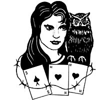 Woman with Owl Photographic Print