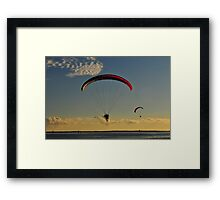 Power Paragliding  Over the Water Framed Print
