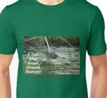 I Am the Real Green Heron! Unisex T-Shirt