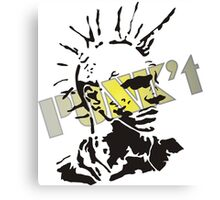 Punk't stamped Canvas Print
