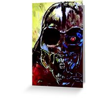 Darth Vader Alien Terminator Mashup Greeting Card