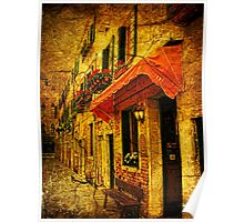 A Street in Venice Poster