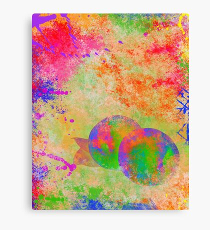Electric Peach Canvas Print