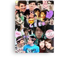 Dan & Phil Collage Canvas Print