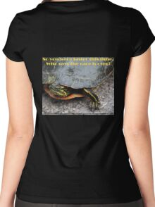 So you were faster this time.  Who says the race is over? Women's Fitted Scoop T-Shirt