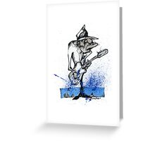 BluesHeart Greeting Card