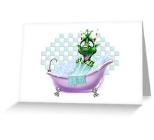 Bartleby's Bathtub Surprise Greeting Card