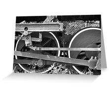 Train Wheel Greeting Card
