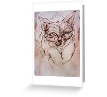 Pluto the Black Cat Greeting Card