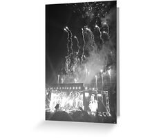 WWA Philly 8/13 Fireworks B&W Greeting Card