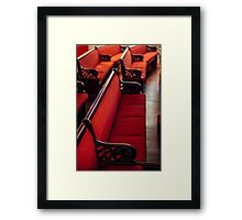Red Benches in St. John's Episcopal Church Framed Print