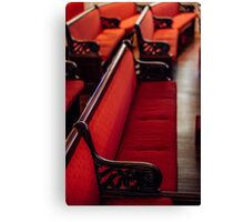 Red Benches in St. John's Episcopal Church Canvas Print