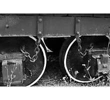 Two Coal Tender Wheels. Photographic Print