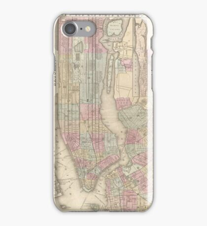 Vintage Map of NYC and Brooklyn (1882) iPhone Case/Skin