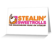 Stealin' Sweetrolls Greeting Card