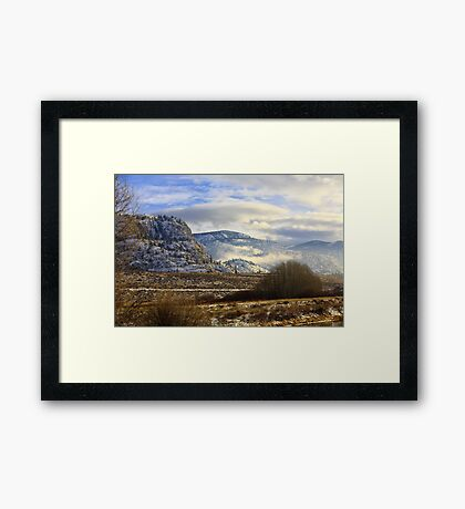 Southern British Columbia winter Framed Print