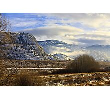 Southern British Columbia winter Photographic Print
