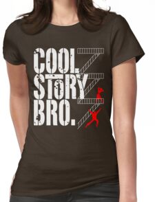 West Side Story, Bro. (White) Womens Fitted T-Shirt