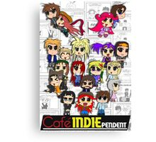 Cafe Indie Chibi Group Canvas Print