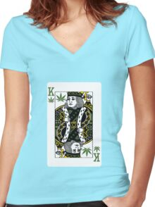 Playing cards in Amsterdam Women's Fitted V-Neck T-Shirt